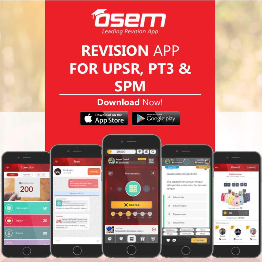 Osem online learning app revision